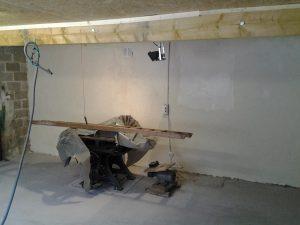 mur du fond après peinture