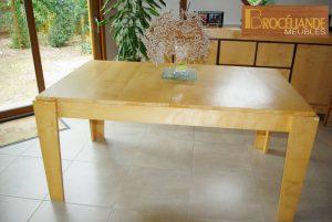 2008- Table de salle à manger en érable sycomore
