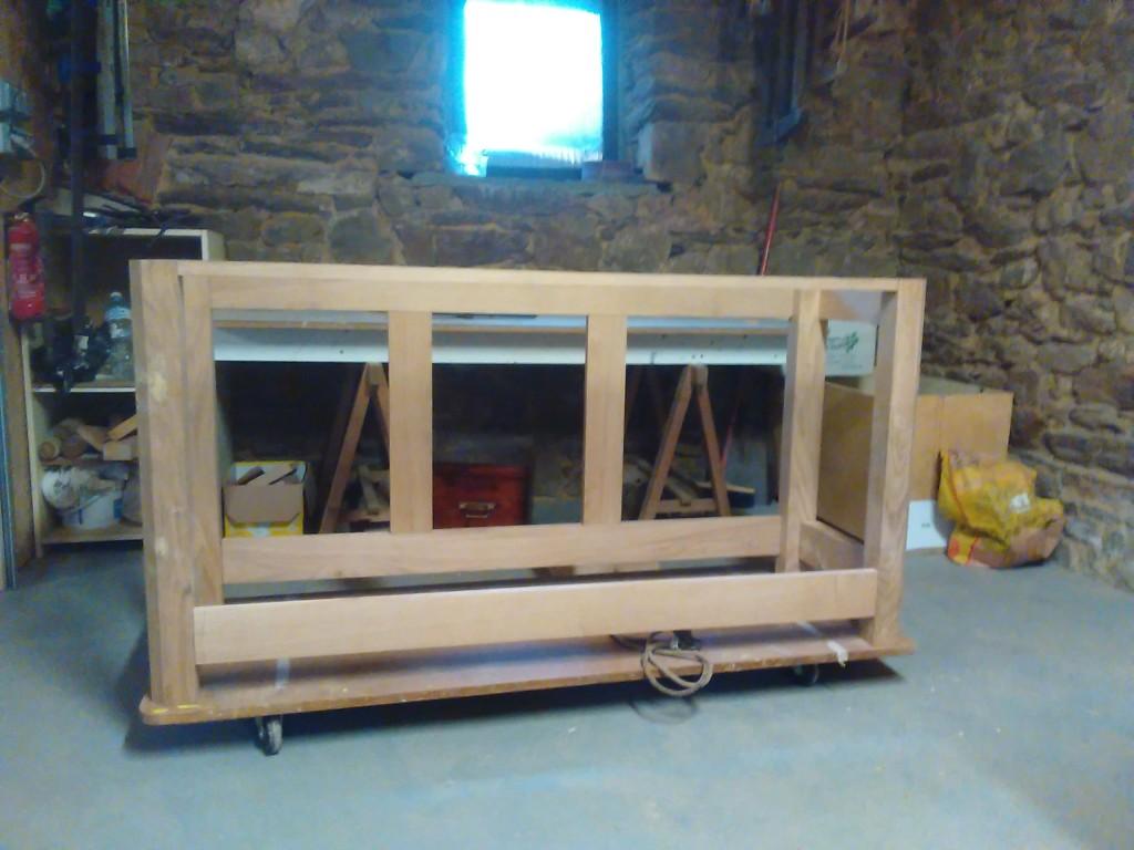 assemblage du bâti du meuble