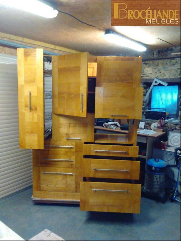 Les meubles r alis s en 2016 2017 broc liande meubles for Grand meuble cuisine